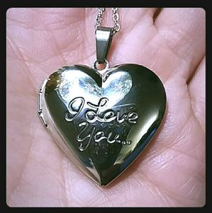 Jewelry - ENGRAVED HEART LOCKET NECKLACE